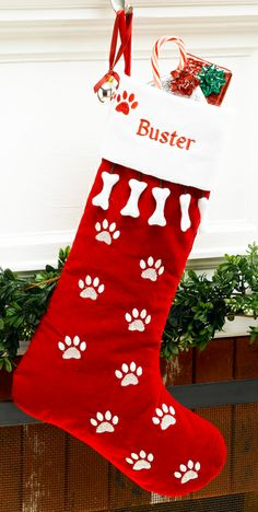 add a dog stocking to your christmas mantle