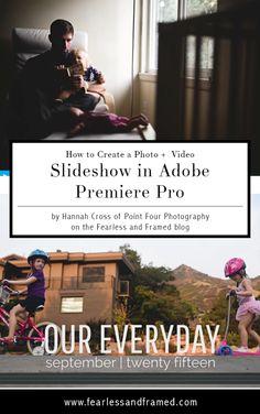 slideshow in adobe premiere pro