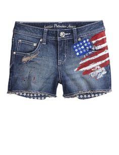 Embellished Pocket-bag Denim Shorts | Girls Shorts Clothes | Justice