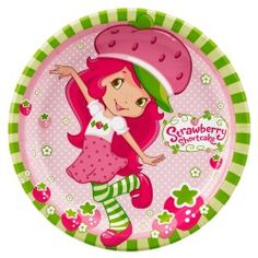 6 8 Pack amscan Pretty Strawberry Shortcake Birthday Party Hats Wearable Accessory Favor Pink//Green