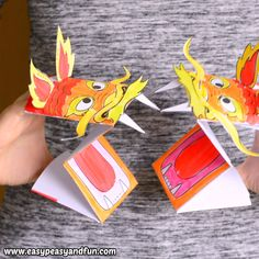 If your celebration of Chinese new year needs a fun craft project this printable Chinese Dragon puppet is perfect. If your celebration of Chinese new year needs a fun craft project this printable Chinese Dragon puppet is perfect. Chinese New Year Crafts For Kids, Chinese New Year Activities, Chinese Crafts, New Years Activities, Art For Kids, Library Activities, Chinese New Year Kids, New Year's Crafts, Kids Crafts