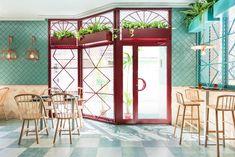 Masquespacio, studio de design global espagnol, présente le design d'espace d'Albabel, un restaurant à Picaña, une petite ville à 8 km de Valence. #design #retail