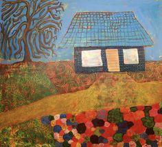 House/Maarit Korhonen, 100cm x 110cm, acrylic, canvas Canvas Art, Acrylic Canvas, Original Art For Sale, Artists Like, House Painting, Figurative Art, Artwork Online, Buy Art, The Good Place