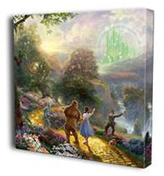 The Wizard of Oz - Dorothy Discovers the Emerald City - Gallery Wrapped - Thomas Kinkade - World-Wide-Art.com