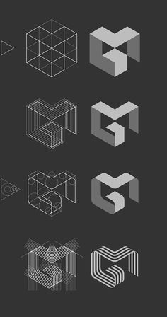 logo inspiration // process // MG logo by Jan Zabransky, via Behance Logo Branding, Logo And Identity, Brand Identity Design, Branding Design, Font Logo, Design Logo, Branding Ideas, Visual Identity, Logo Inspiration