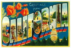 Vintage California postcard