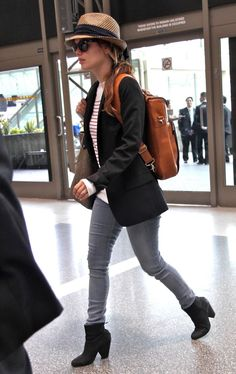 The always stylish Rachel Bilson's #airport #outfit