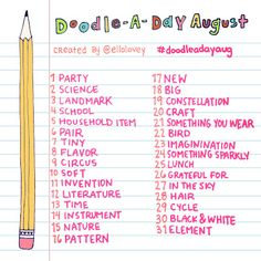 Rhi-Creations: Doodle a Day August