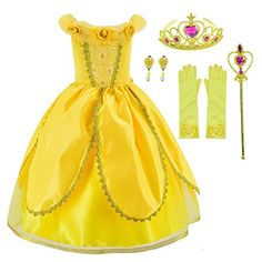 Princess Belle Costume Deluxe Party Fancy Dress Up For Girls with Accessories 1012 ** Proceed to the item at the picture link. (This is an affiliate link). Princess Costumes For Girls, Princess Belle Costume, Disney Princess Dress Up, Princess Jasmine, Dress Up Costumes, Girl Costumes, Halloween Costumes, Turtle Costumes, Mermaid Costumes