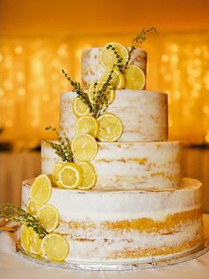 Naked Lemon Wedding Cake by Ann's Cakes country chocolat mariage cake cake country cake recipes cake simple cake vintage Lemon Wedding Cakes, Fruit Wedding Cake, Summer Wedding Cakes, Floral Wedding Cakes, Wedding Cake Designs, Wedding Cupcakes, Wedding Cake Toppers, Yellow Wedding Cakes, Yellow Cakes