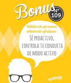 Sé proactivo, controla tu conducta de modo activo. Tall People, Personal Development