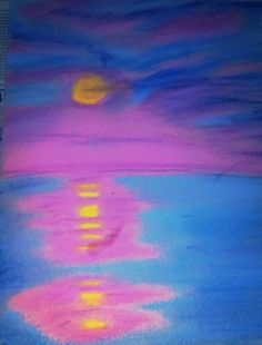 Chalk pastel sunset, another try