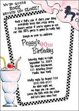 free surprise birthday invitations templates, poodle skirt | ... for -Sock Hop, 50's Party Invitations and Birthday Party Invitations