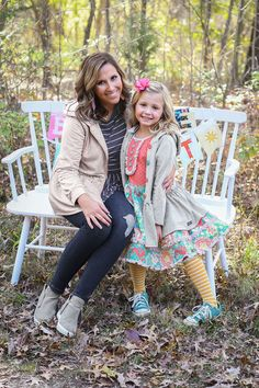 Matilda Jane Clothing | Holiday Fashion | Mommy and Me | Mommy and Me Fashion | December Styling | Pattern Dresses | Mom and Daughter Outfits Dress Outfits, Girl Outfits, Dresses, Jane Clothing, Monogram Shirts, Mom Dress, Matilda Jane, Holiday Fashion, Beautiful Children