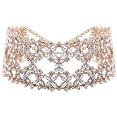 Openwork Tiered Rhinestone Wide Choker (175 ZAR) ❤ liked on Polyvore featuring jewelry, necklaces, rhinestone choker, wide choker, rhinestone necklace, choker jewelry and tiered necklace