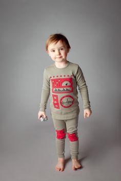 Adorable Kids Pajama Set- Robot.