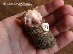 Baby brownie  - fantasy ooak art doll goblin imp