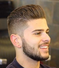 Image result for Backcombed Hairstyle With Beard