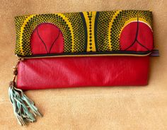 African Wax fabric clutch by Hot Bags  by DazzlingGypsyQueen, €49.95