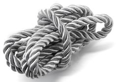 Nylon Silver Rope 58in/147.3cm - This chunky nylon rope is fantastic for adding a bold feature to nautical themed bracelets and sailor's knot designs. Nylon rope is also great for a range of craft projects and adding special details to home d [$4.99]
