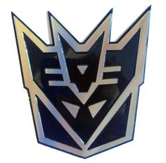 Transformers Decepticon Black 3D Laser Reflective Car Emblem Decal Badge Sticker - SMALL SIZE