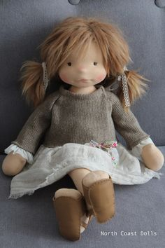 "Salomé 18"" handmade One of a Kind doll"