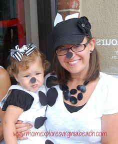Cow outfits for Chick-fil-a Cow appreciation day.