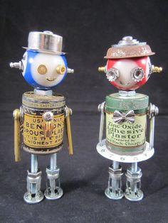 Benson Plaster Bot found object robot sculpture by ckudja on Etsy