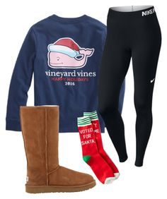 """""""Yay"""" by saragisel on Polyvore featuring Vineyard Vines, NIKE, UGG Australia and American Eagle Outfitters"""
