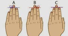 Знаете ли, че дължината на вашите пръсти на ръцете може да разкрие повече за вашата личност?! Сравнете