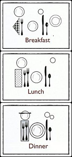 Arrangement of Cutlery Like Home