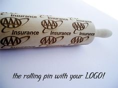 Rolling pin with YOUR LOGO or PICTURE by AlgisCrafts on Etsy