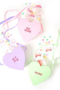 DIY Conversation Heart Bag - Damask Love