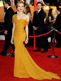 Diane Kruger | DIANE KRUGER With its deliciously pleated neckline and impeccable fit, this marigold gown by Jason Wu set off the Inglourious Basterds star gloriously. And it…