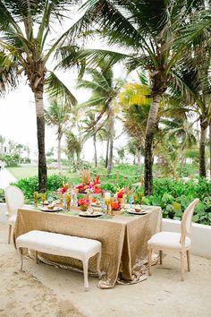Tropical beach wedding #beachwedding @weddingchicks