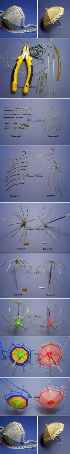 wire and thread umbrella for your girls