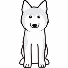 Siberian Husky Dog Cartoon Photo Sculpture