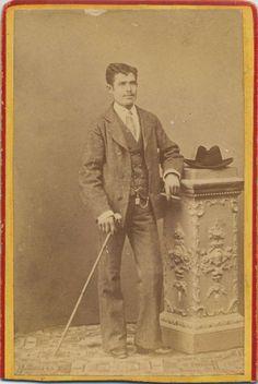 Coyne, Anselmo Maria: retrato caballero, CDV 1880.  Hesperus´ Collection