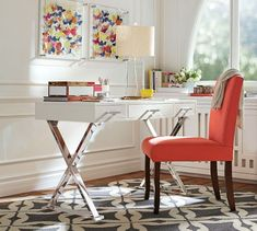 """Ava Desk with Drawers 