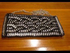 Como hacer un bolso con anillas de lata de refresco DIY Parte 1 Bolso Trench - YouTube