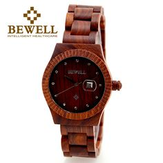 Trendy Top Brand Wooden Watches Big Sale http://timecreatives.com/bewell-hot-selling-womens-casual-watch-crystal-scale-auto-date/ //Price: $46.99 & FREE Shipping //     #watches #watchesformen #wristwatch #fashion