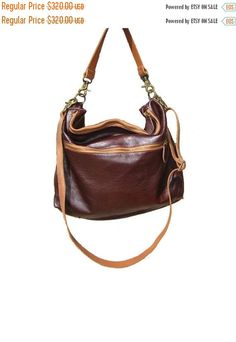 SALE Big Messenger Bag Leather Bag Leather Bags Women by AdaBags
