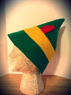 Buddy the Elf hats are going fast.  Buddy the Elf Hat by WiddershinsandBone on Etsy, $12.50  #Christmas #Halloween #costume #hat