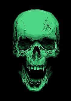 Skull by Callum Forster, via Behance (Tattoo idea)