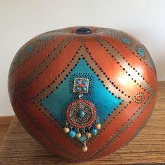 Lampe calebasse Pérou