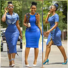 the very best casual outfit a fashionista should have in her closet at the moment Best Casual Outfits, 30 Outfits, Chic Outfits, Fashion Outfits, Office Outfits, African Attire, African Wear, African Women, Short African Dresses