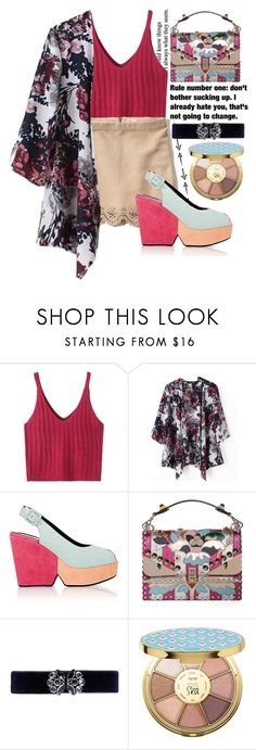 """""""250"""" by erohina-d ❤ liked on Polyvore featuring WithChic, Hollister Co., Robert Clergerie, Fendi, Grey's Anatomy, Lulu Frost and tarte"""