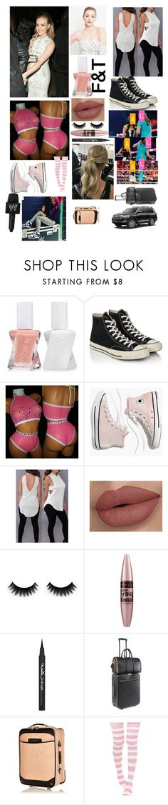 """""""IGNORE UNLESS TAGGED"""" by jerrielesy-wwe-lm ❤ liked on Polyvore featuring WWE, Essie, Converse, Madewell, Maybelline, STELLA McCARTNEY and River Island"""