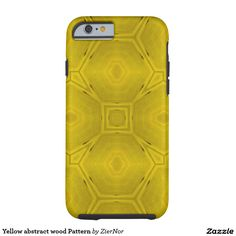Yellow abstract wood Pattern Tough iPhone 6 Case