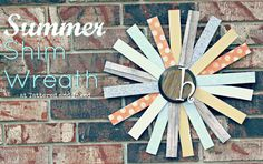 Tattered and Inked: Summer DIY: Summer Shim Wreath